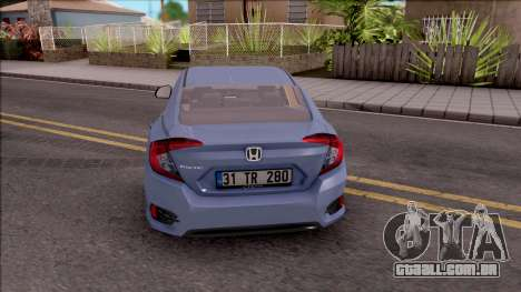 Honda Civic FC5 Low Poly with Led Lights para GTA San Andreas traseira esquerda vista