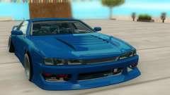 Nissan Silvia S14 синий para GTA San Andreas