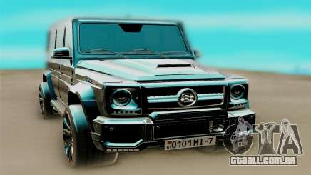 A Mercedes-Benz G63 AMG чёрный para GTA San Andreas