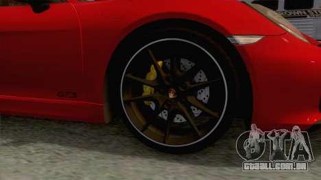 Porsche Boxster GTS 2016 para GTA San Andreas vista traseira
