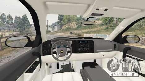 GTA 5 Chevrolet Silverado 1500 LT v0.5 [replace] traseira direita vista lateral