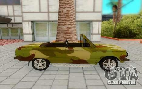 ZAZ 968M para GTA San Andreas traseira esquerda vista