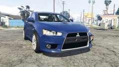 Mitsubishi Lancer Evolution X [replace] para GTA 5