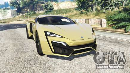 W Motors Lykan HyperSport 2014 v1.3 [add-on] para GTA 5