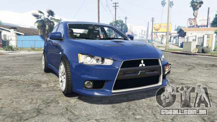 Mitsubishi Lancer Evolution X [replace] para GTA 5
