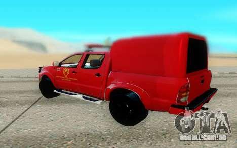 Toyota Hilux para GTA San Andreas vista direita