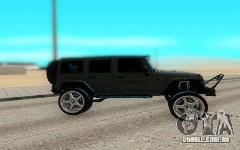 Jeep Rubicon 2012 V3 para GTA San Andreas esquerda vista