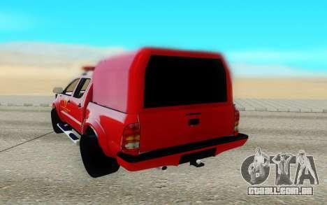 Toyota Hilux para GTA San Andreas traseira esquerda vista