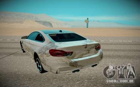 BMW M4 TR para GTA San Andreas vista traseira