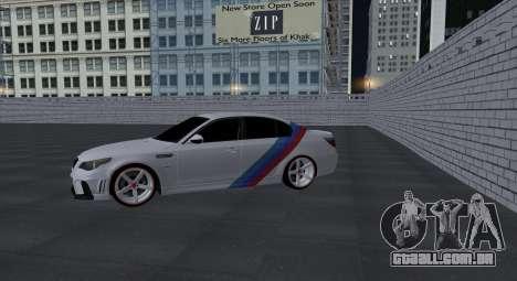 BMW M5 E60 SS (SmotraStyle) para GTA San Andreas vista interior