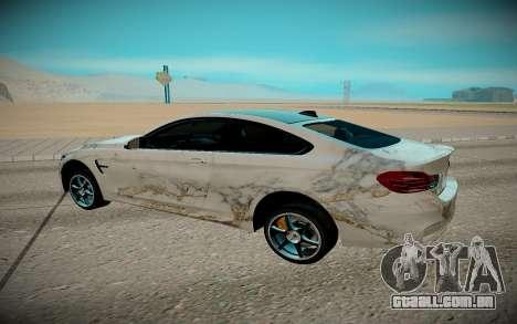 BMW M4 TR para GTA San Andreas traseira esquerda vista