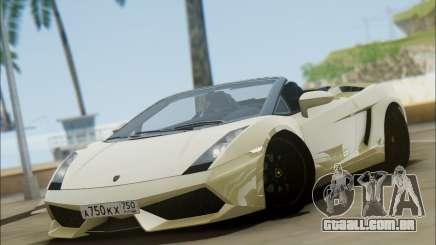 Lamborghini Gallaro 2005 Spyder para GTA San Andreas