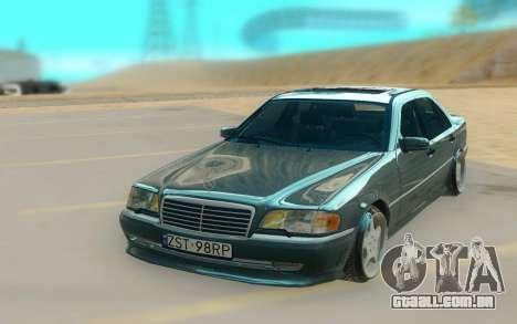 Mercedes Benz W202 Black Bandit para GTA San Andreas
