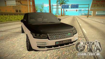 Land Rover Range Rover Autobiography 2016 para GTA San Andreas