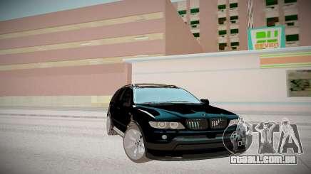 BMW X5 preto para GTA San Andreas