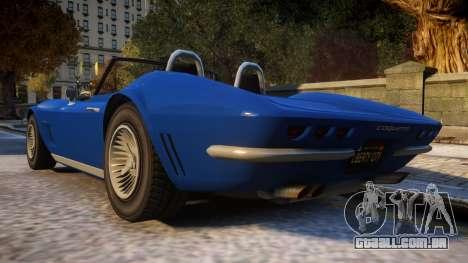 GTA V Invetero Coquette Classic para GTA 4 traseira esquerda vista