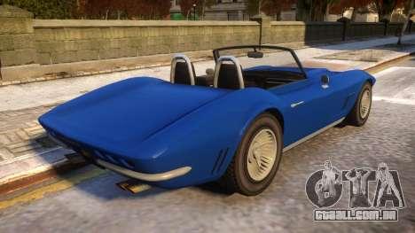 GTA V Invetero Coquette Classic para GTA 4 vista direita