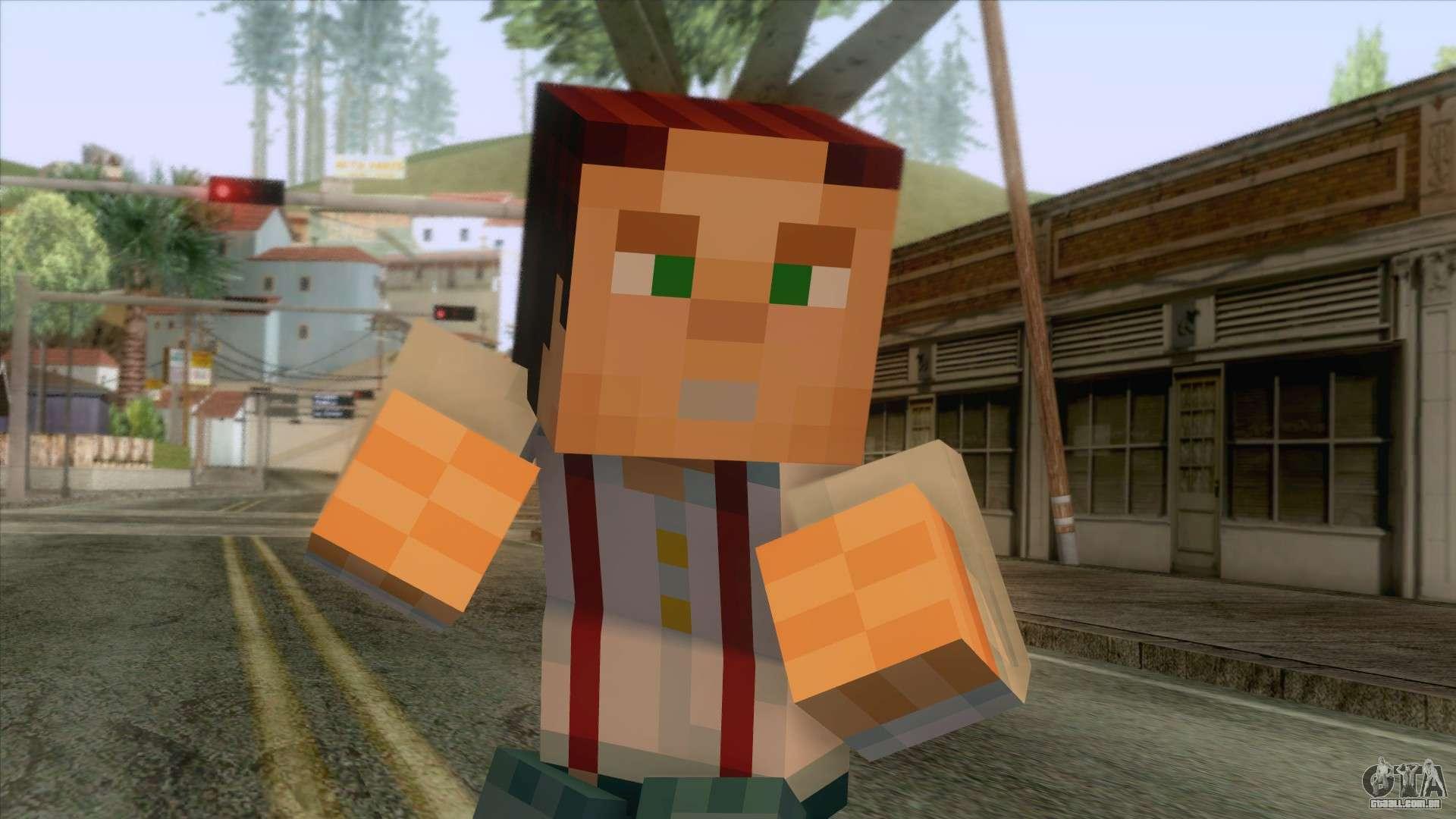 Jesse Minecraft Story Skin para GTA San Andreas