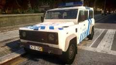 Land Rover Defender Police para GTA 4