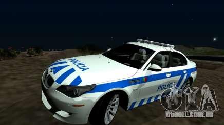 BMW M5 E60 PSP - português / português-Carro de Polícia para GTA San Andreas