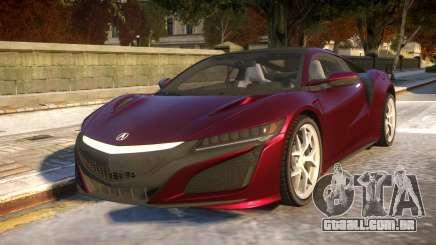 2016 Acura NSX para GTA 4