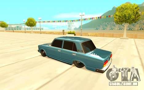 Dois mil e cem sete para GTA San Andreas vista direita