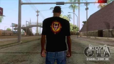 Gucci Angry Cat T-Shirt Black para GTA San Andreas