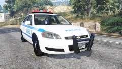 Chevrolet Impala 2007 NYPD v1.1 [replace] para GTA 5