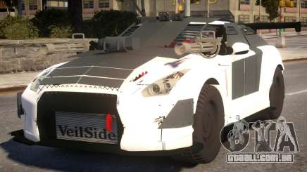 Nissan GTR 2017 Armor Off Guns para GTA 4