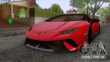 Lamborghini Huracan Performante Spyder 2019 para GTA San Andreas