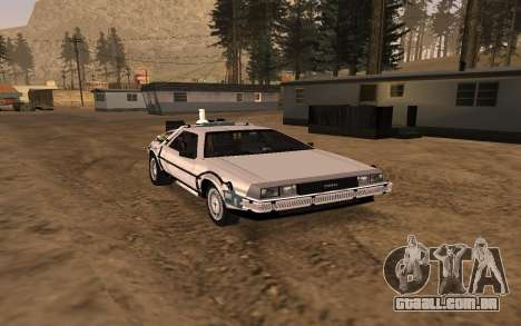 Delorean DMC-12 Back To The Future 2 para GTA San Andreas