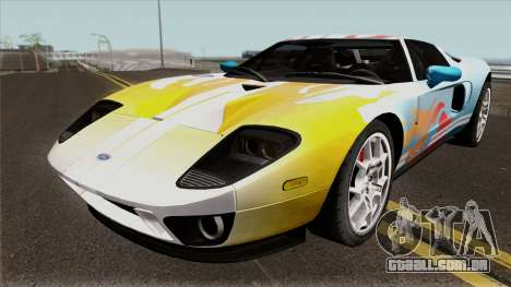 Ford GT IVF para vista lateral GTA San Andreas