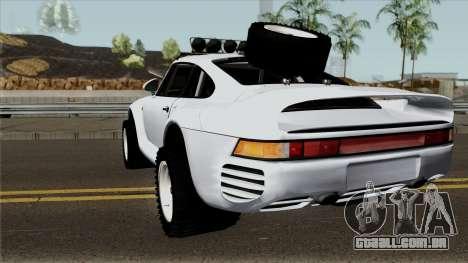 Porsche 959 Rusty Rebel 1987 para GTA San Andreas traseira esquerda vista