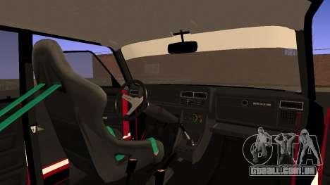 VAZ 2107 Bosozoku Style para GTA San Andreas vista interior
