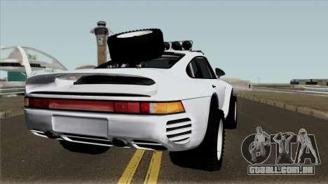 Porsche 959 Rusty Rebel 1987 para GTA San Andreas vista direita