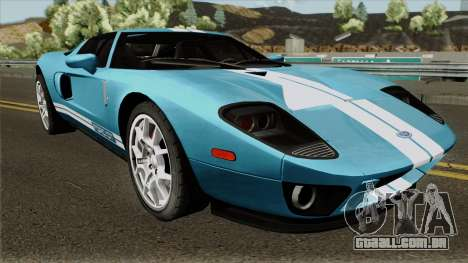 Ford GT IVF para GTA San Andreas vista interior