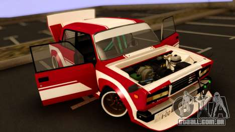 VAZ 2107 Bosozoku Style para GTA San Andreas vista direita