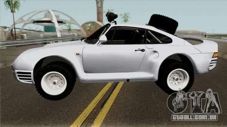 Porsche 959 Rusty Rebel 1987 para GTA San Andreas esquerda vista