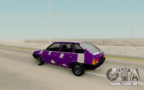 VAZ 2109 Tuning para GTA San Andreas traseira esquerda vista