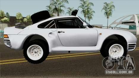 Porsche 959 Rusty Rebel 1987 para GTA San Andreas vista traseira