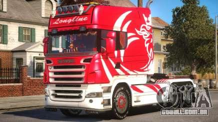 Scania R580 Longline Custom PJ4 para GTA 4