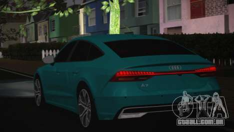 Audi A7 para GTA San Andreas vista interior