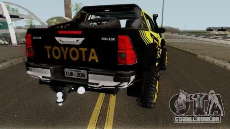 Toyota Hilux Tonka Concept 2017 para GTA San Andreas vista direita