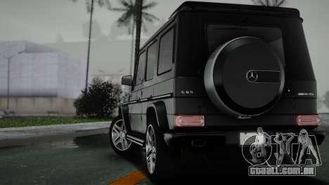Mercedes-Benz G65 para GTA San Andreas traseira esquerda vista