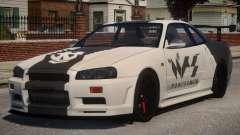 Nissan Skyline GT-R R34 PJ1 para GTA 4