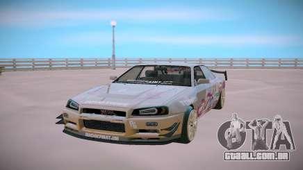 Nissan Skyline GT-R R34 Toyota Chaser para GTA San Andreas