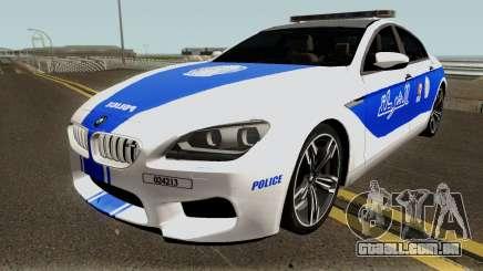 BMW M6 F13 Gran Coupe 2014 Algeria Police para GTA San Andreas