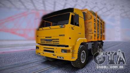 KAMAZ 6460 Caminhão com toras para GTA San Andreas