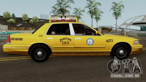 Ford Crown Victoria Taxi Downtown Cab v1.0 2003 para GTA San Andreas