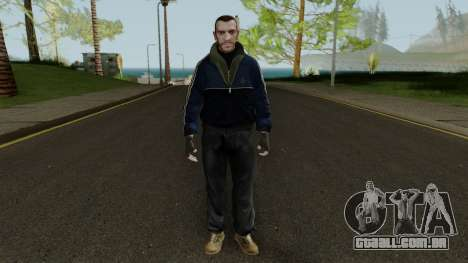Niko Bellic in Blue Jacket para GTA San Andreas